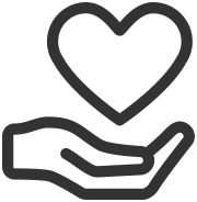 donate hands heart icon