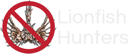 Lionfish Invade South Florida Sticky Logo